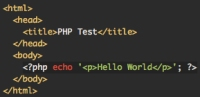 Hello World PHP code